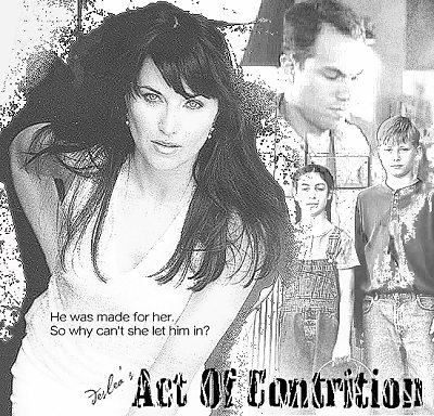 Act Of Contrition cover art by Deslea.  Lucy Lawless as Shannon McMahon, Adam Baldwin as Knowle Rohrer