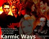 Karmic Ways cover.  Nicholas Lea as Alex Krycek, Laurie Holden as Marita Covarrubias, David Duchovny as Fox Mulder, Mimi Rogers as Diana Fowley, Tom Braidwood as Melvin Frohike, Callista Flockhart as Ally McBeal.