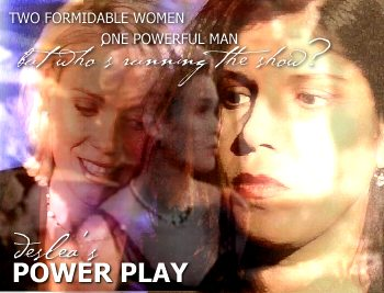 Power Play cover art by Deslea.  Laurie Holden as Marita Krycek, ? as Jeraldine Kallenchuck