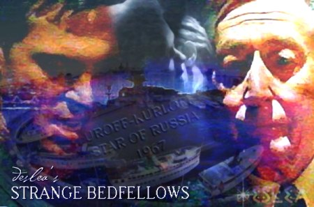 Strange Bedfellows cover art by Deslea.  Nick Lea as Alex Krycek, John Neville as the Well Manicured Man